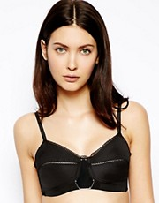 Kallisti by Marios Schwab for ASOS Inc.  Bustier aus Taft mit Plexiglas-Element