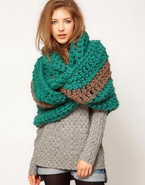 Image 1 ofSpratters &amp; Jayne Luxury Stripe Wrap Scarf