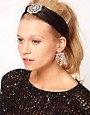 Image 1 ofASOS Satin Jewelled Headband