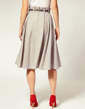 Image 2 ofASOS Belted Super Full 7/8 Skirt
