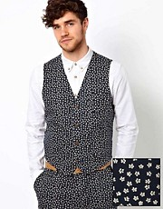 ASOS Waistcoat in Ditsy Floral