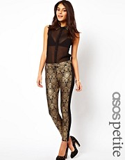 ASOS PETITE Exclusive Gold Baroque Trousers