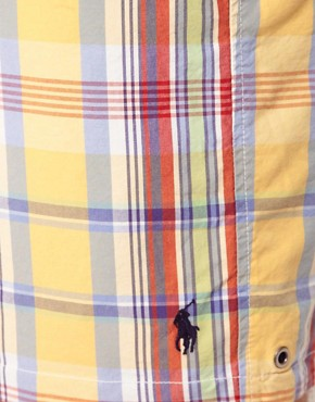 Image 3 ofPolo Ralph Lauren Check Reversable Swim Shorts