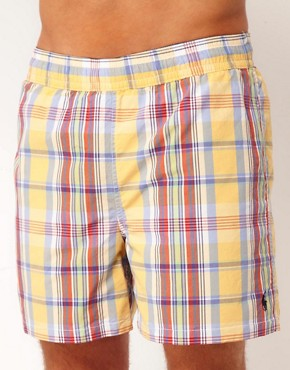 Image 1 ofPolo Ralph Lauren Check Reversable Swim Shorts