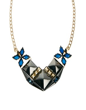 Image 1 ofASOS Midnight Stud Necklace
