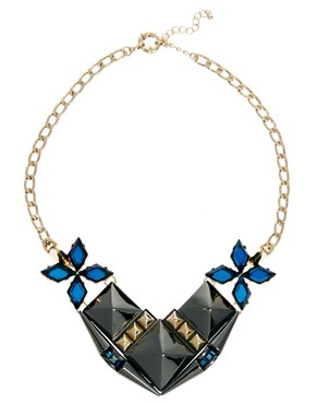 Image 2 of ASOS Midnight Stud Necklace