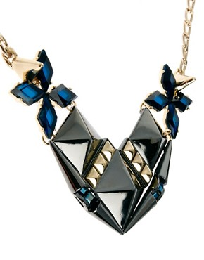 Image 4 ofASOS Midnight Stud Necklace