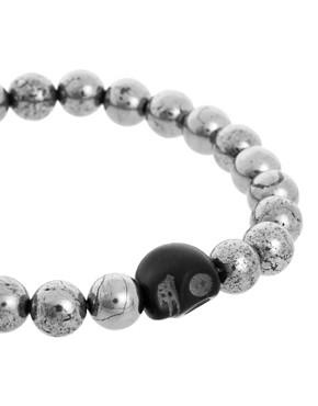 Image 4 ofAnouska Beaded Skull Bracelet