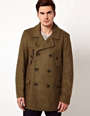 French Connection Double Breasted Pea Coat