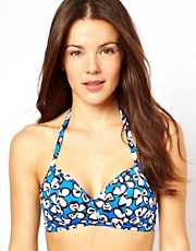 Freya D-F Madame Butterfly Print Soft Triangle Bikini Top