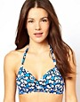 Image 1 ofFreya D-F Madame Butterfly Print Soft Triangle Bikini Top
