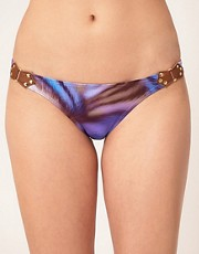 Vix Hipster Bikini Bottom With Leather Detail