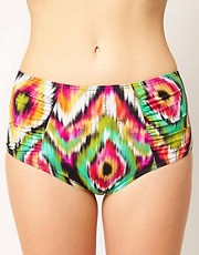 ASOS Ikat Print Highwaisted Bikini Pant