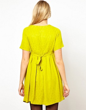 Image 2 ofASOS Maternity Jacquard Smock Dress