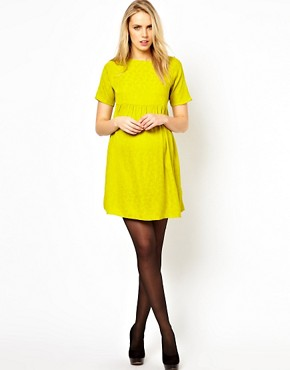Image 4 ofASOS Maternity Jacquard Smock Dress