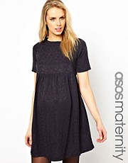 ASOS Maternity Jacquard Smock Dress