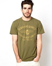 Denim &amp; Supply Ralph Lauren T-Shirt with Logo Print