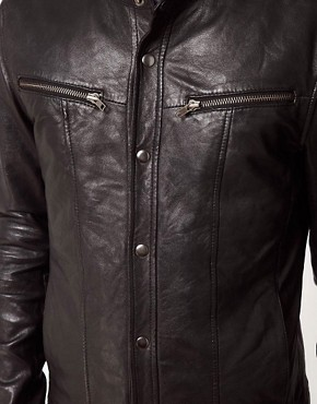 Image 3 ofCode Leather Jacket