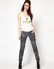 Vivienne Westwood Anglomania For Lee Skinny Jean In Ripped Print