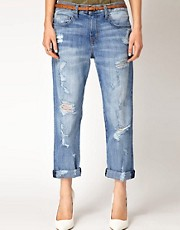 Current/Elliot Distressed Boyfriend Jeans