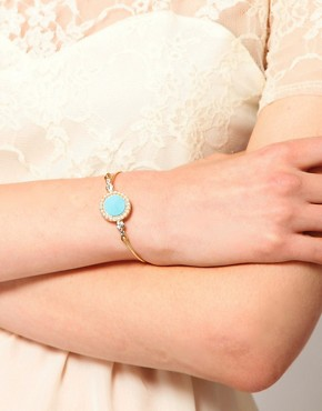 Image 3 ofASOS Stone &amp; Pearl Bangle