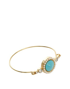 Image 1 ofASOS Stone &amp; Pearl Bangle