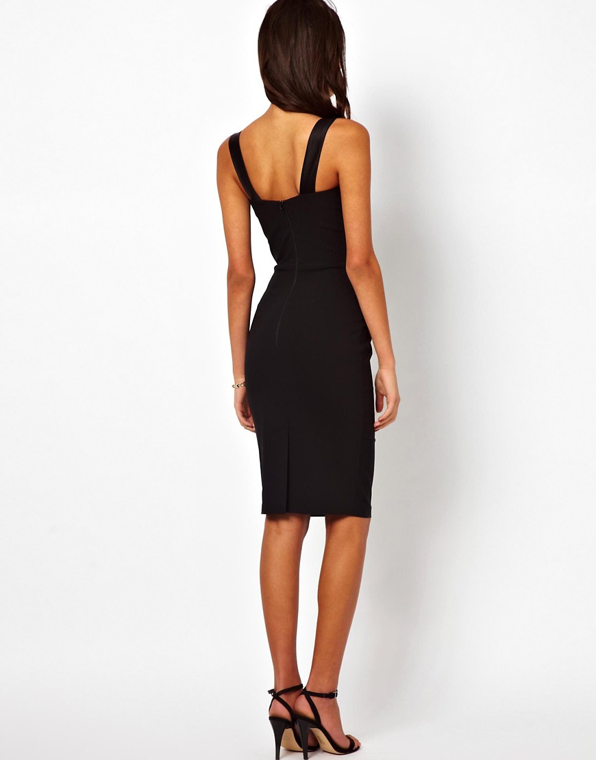 Image 2 of Hybrid Pencil Dress With Gathered Waist And Sweetheart Neck