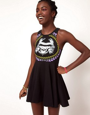 Image 1 ofFairground Gorilla Skater Dress