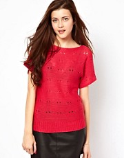Vero Moda Slubby Short Sleeve Jumper