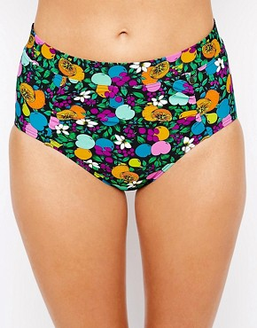 All About Eve Fruity Floral Highwaisted Bikini Bottoms