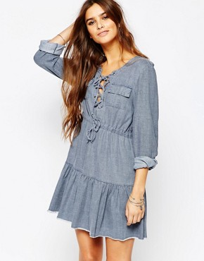Somedays Lovin Undercover Indigo Chambray Dress