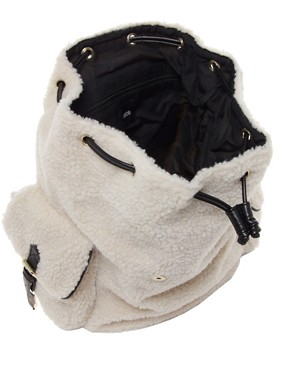 Image 2 ofASOS Shearling Backpack
