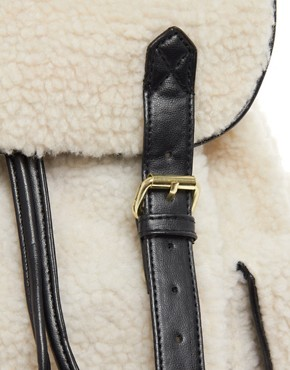 Image 4 ofASOS Shearling Backpack