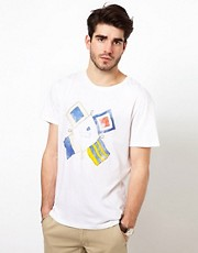 Gant Rugger T-Shirt with Flag Print