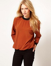 ASOS Woven Sweat Top