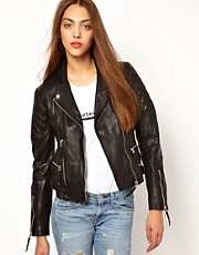 Whistles Brando Biker Leather Jacket