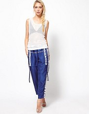 Edun Silk Drawstring Trousers