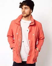 Paul Smith Jeans Jacket with Hood in Waterproof Cotton