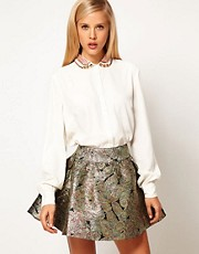 ASOS Blouse With Peterpan Embellished Collar