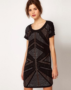 Image 1 ofWarehouse Deco Embellished Dress