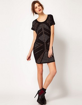 Image 4 ofWarehouse Deco Embellished Dress