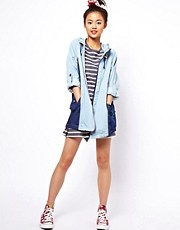 ASOS Unlined Denim Blocked Parka