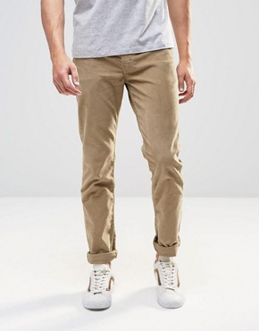 Levi's 511 Slim Cord Trousers Beige 5 Pocket