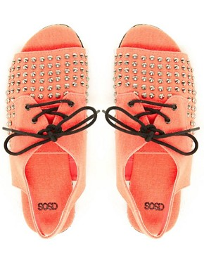 Image 2 ofASOS FEARLESS Studded Flat Sandals