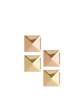 Image 1 ofASOS Pack of Two Stud Earrings
