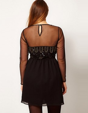 Image 2 ofASOS CURVE Dress With Deco Embellishment