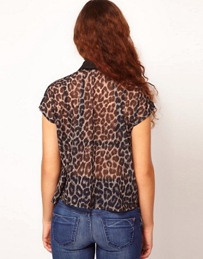 Image 2 ofRiver Island Animal Print Shirt