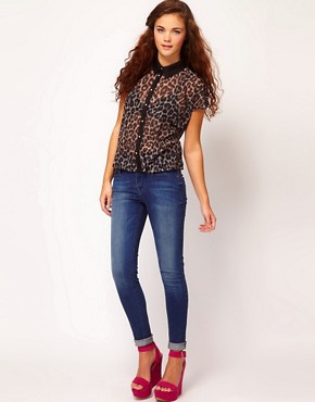 Image 4 ofRiver Island Animal Print Shirt