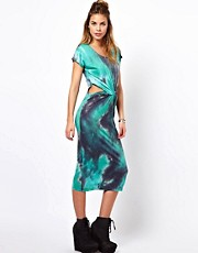 Glamorous Tie Dye Dress With Twist Front