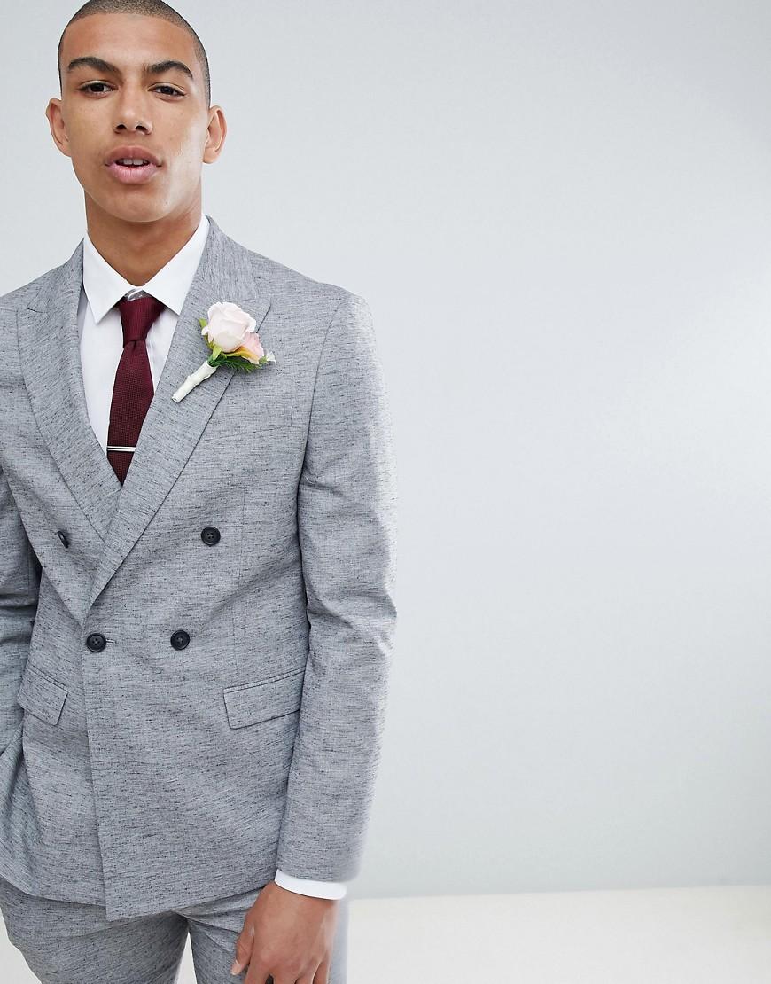 Серый пиджак зауженного кроя River Island Wedding - Серый